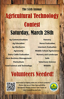 Poster promoting the 2014 Ag Technology Contest