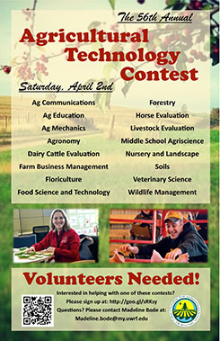 Poster promoting the 2016 Ag Technology Contest