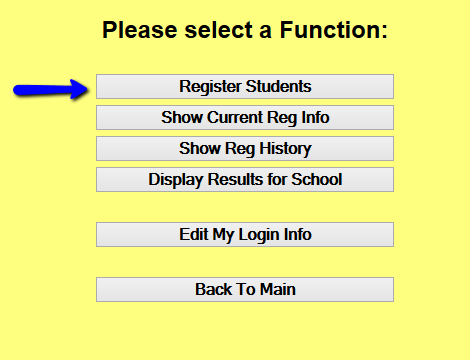 Register Student Button