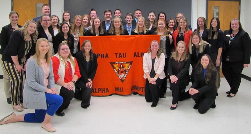 Fall 2019 Alpha Tau Alpha Initiation Photo
