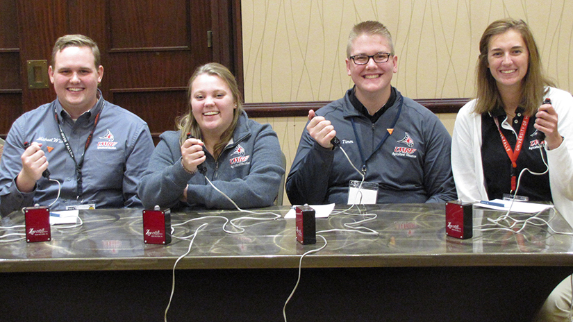 Picture of the four persion 2017 UWRF agricultural education quiz bowl team