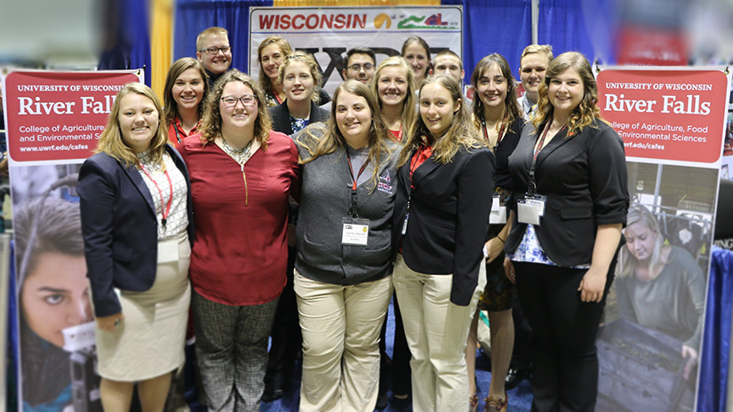 UWRF CAFES booth at the 2017 National FFA Convention