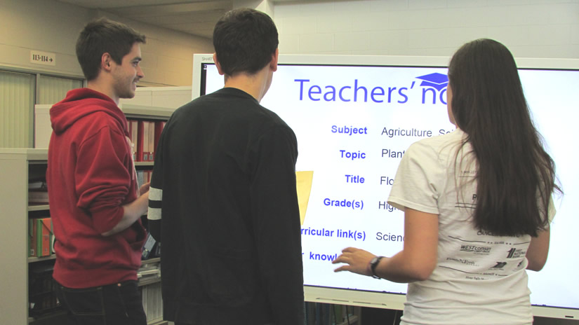 Class using SMART display