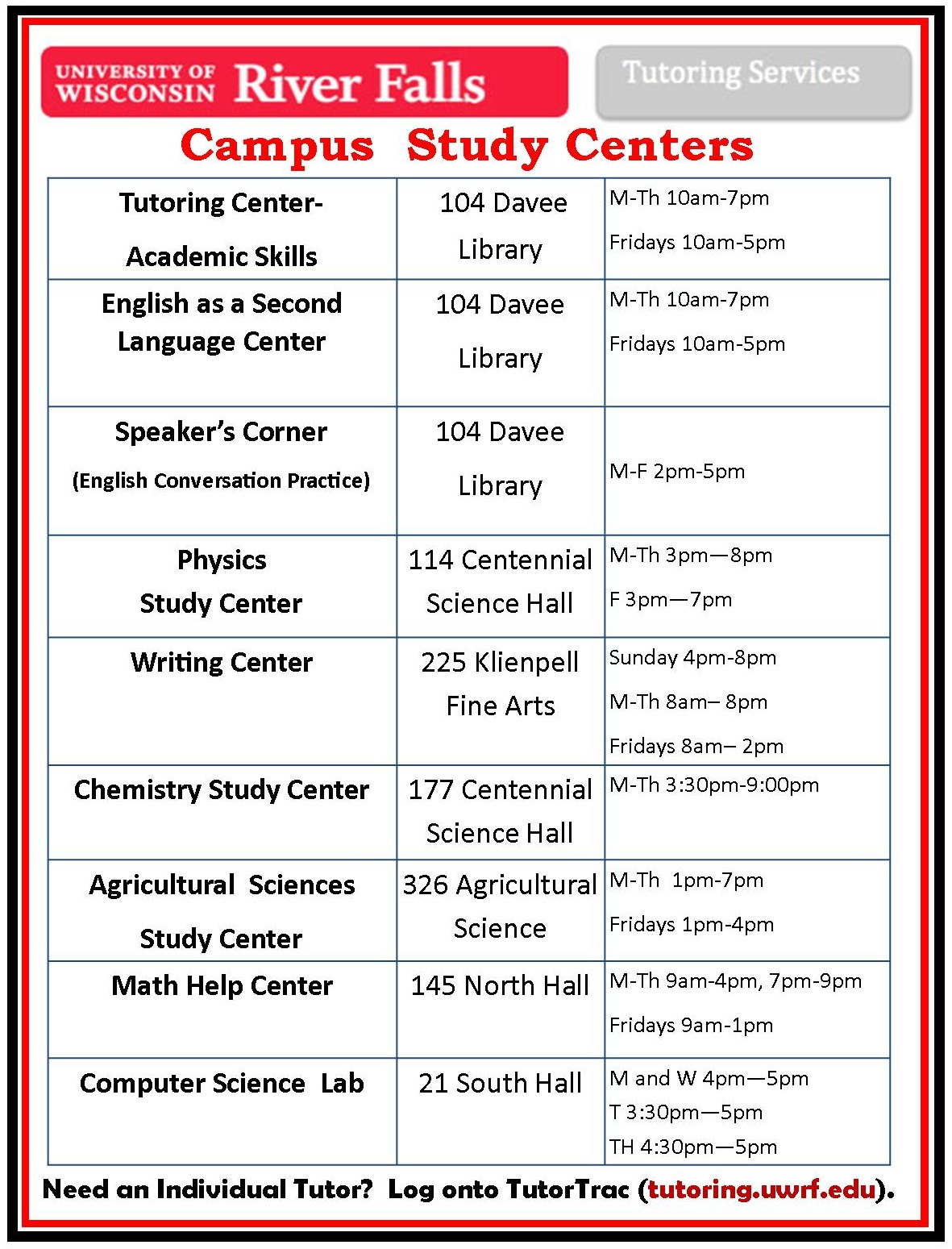 Tutoring center flyer