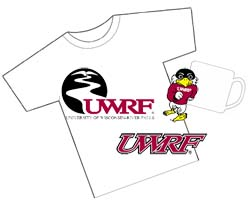 Collage of items that may feature a UWRF mark