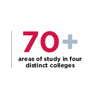 70 Plus Areas of Study 2018