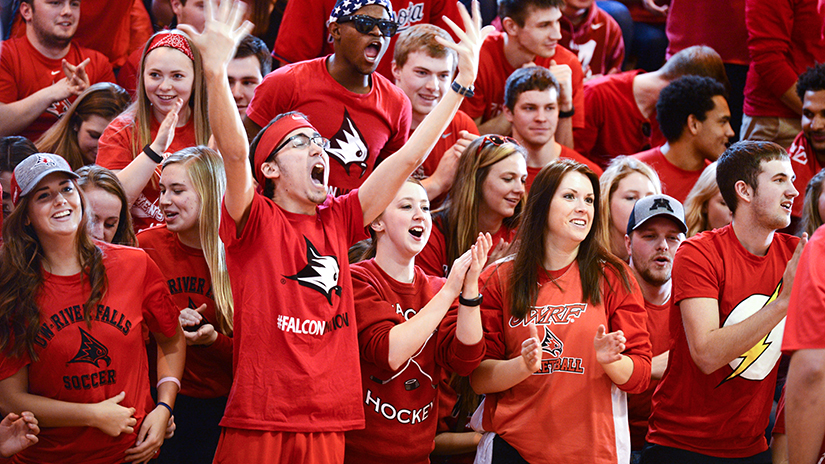 student fans basketball