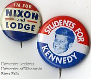 Kennedy and Nixon political buttons, 1960