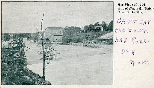 The Flood of 1894, Site of Maple St. Bridge