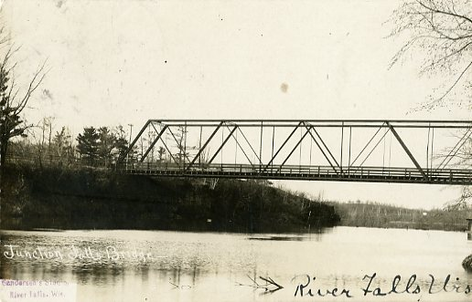 1907 the railroad bridge above Junction Falls