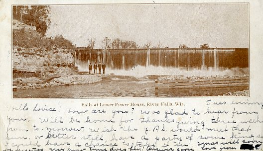 1907 - Falls at lower power plant