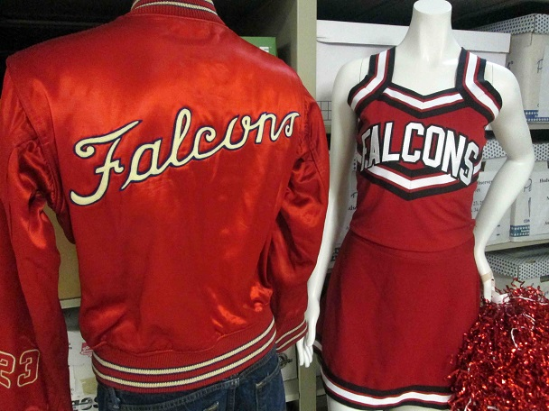 1949 basketball jacket and cheerleader uniform