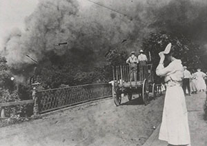 River Falls Prairie Mill Fire, 1916; the Mill also burned in 1896 [Read River Falls Journal article about the blaze]
