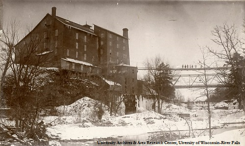Junction Mill before the fire that destroyed it in 1894