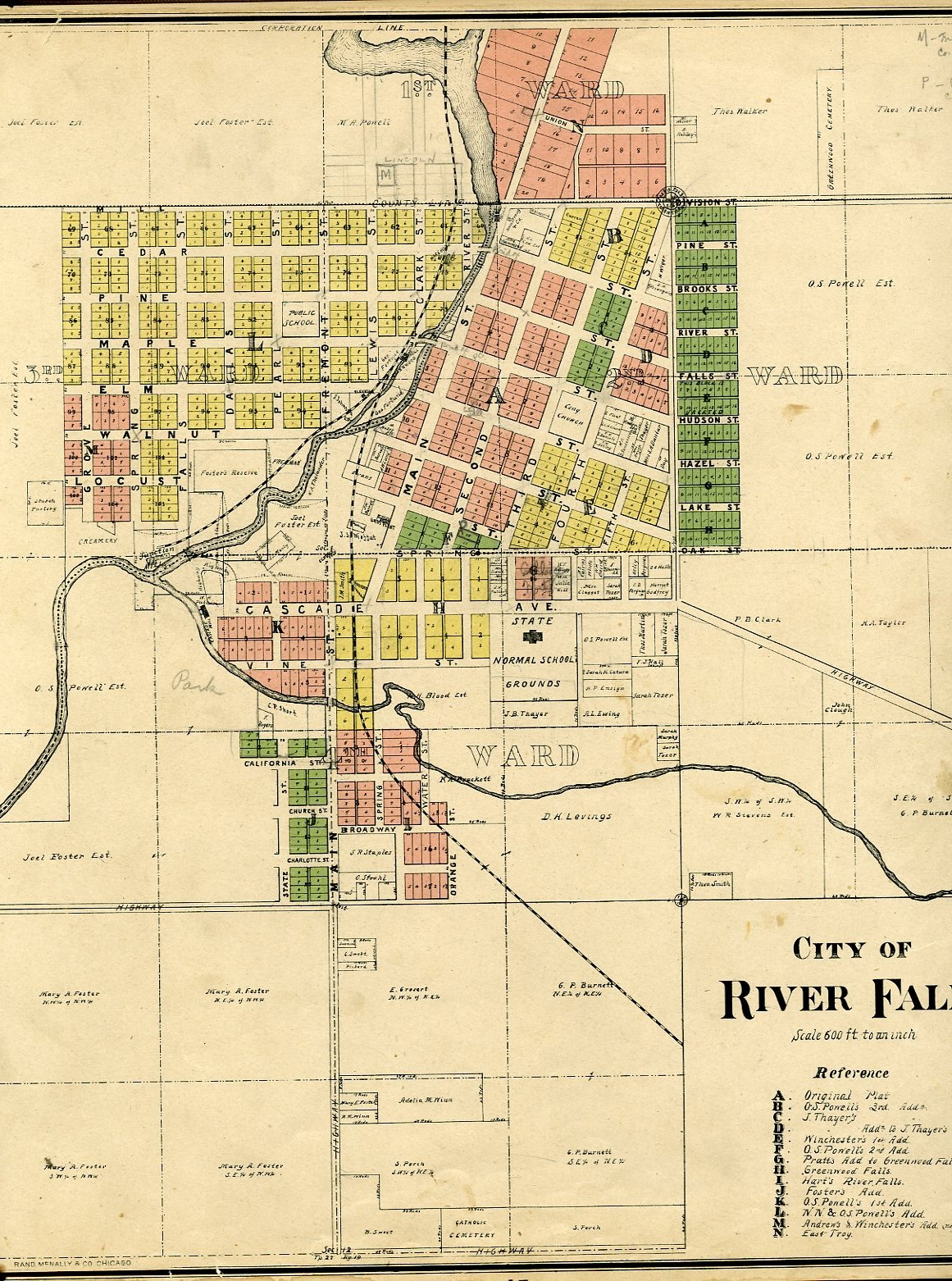City of River Falls, Pierce County Atlas, 1895