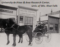 Carriage on Main Street, River Falls, ca. 1900