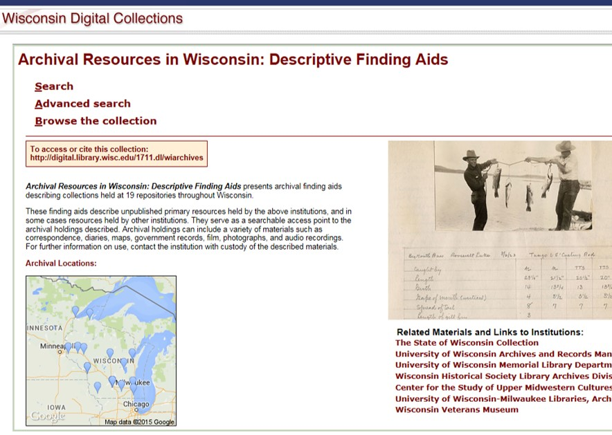 Archival Finding Aids in Wisconsin: Descriptive Finding Aids
