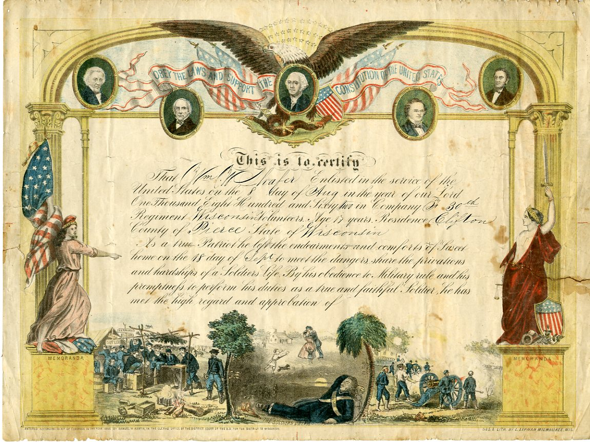 Civil War Certificate