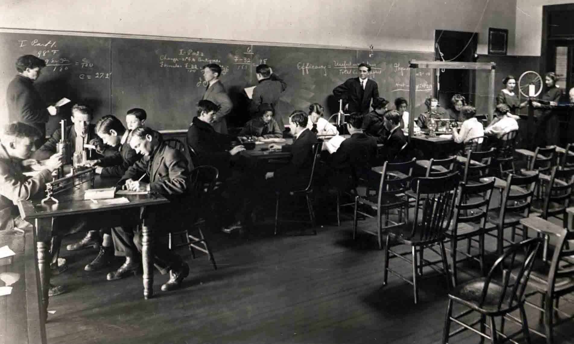 Classroom, Davidson Photograph Collection