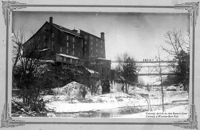 Junction Mill in winter, River Falls