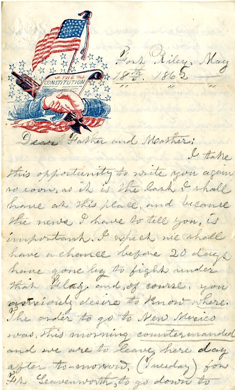 Levings letter 5-18-1862
