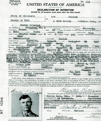 Naturalization record, 1934