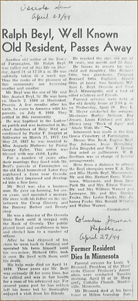 Obituary from 1944