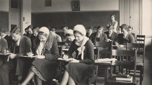 Exam time in the 1930s