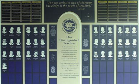Distinguished Teacher Wall