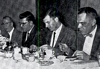 1st Ag division banquet 1960 L-R Arnold Cordes, Elmer White, Ed Pronschinski and Richard Delorit
