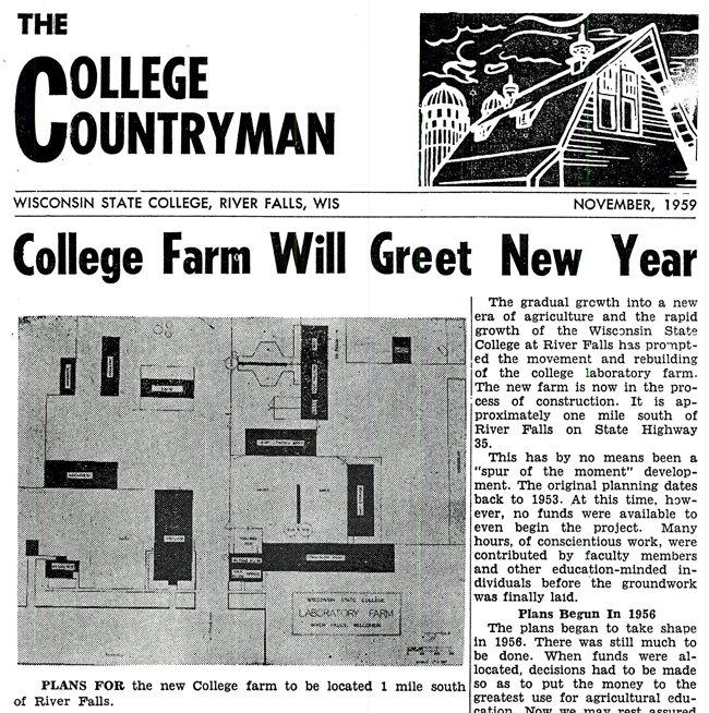 College Countryman front page Nov. 1959