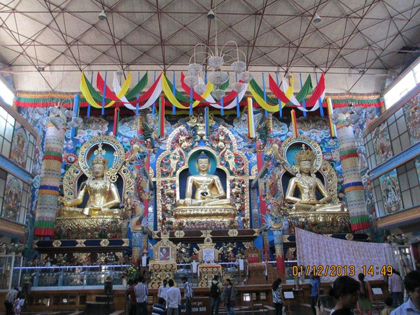 The inside of one of the many temples we visited, which were all absolutely amazing.