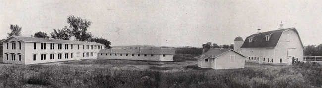 The original barn (1919) and shops 1921