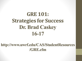 GRE Strategies 2016-17