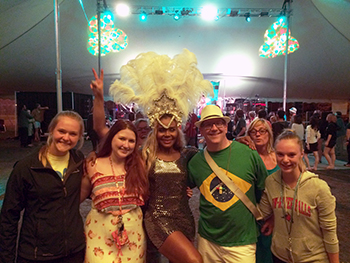 FYA professor Pat O'Keefe's class explores the music and culture of Brazil at UWRF's Carnival Brasilerio