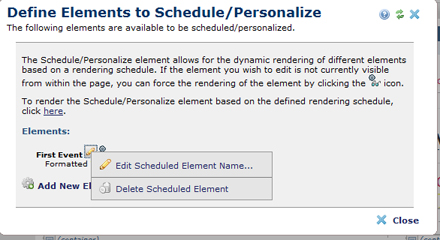 9-To Edit Or Delete Scheduled Element