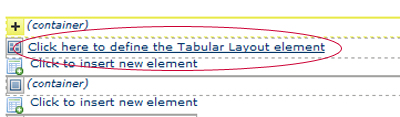 Define Tabular Layout
