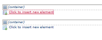 Click To Insert New Element