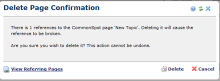 Delete Page Confirmation 1 Reference