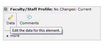 Faculty Staff Data Element
