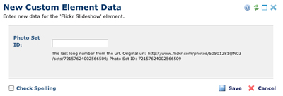 Flickr Enter Data