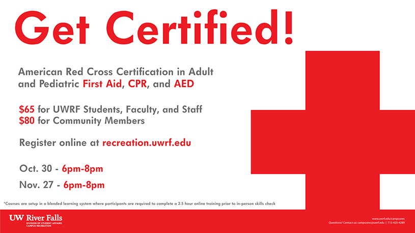 cpr, aed, & first aid | university of wisconsin river falls