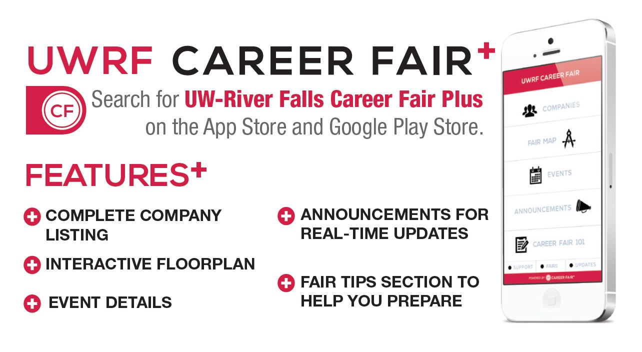 career fair app university of wisconsin river falls career fair plus app features
