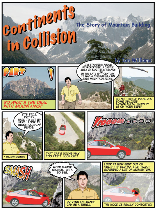 "Cartoon Textbook ""Continents in Collision"""