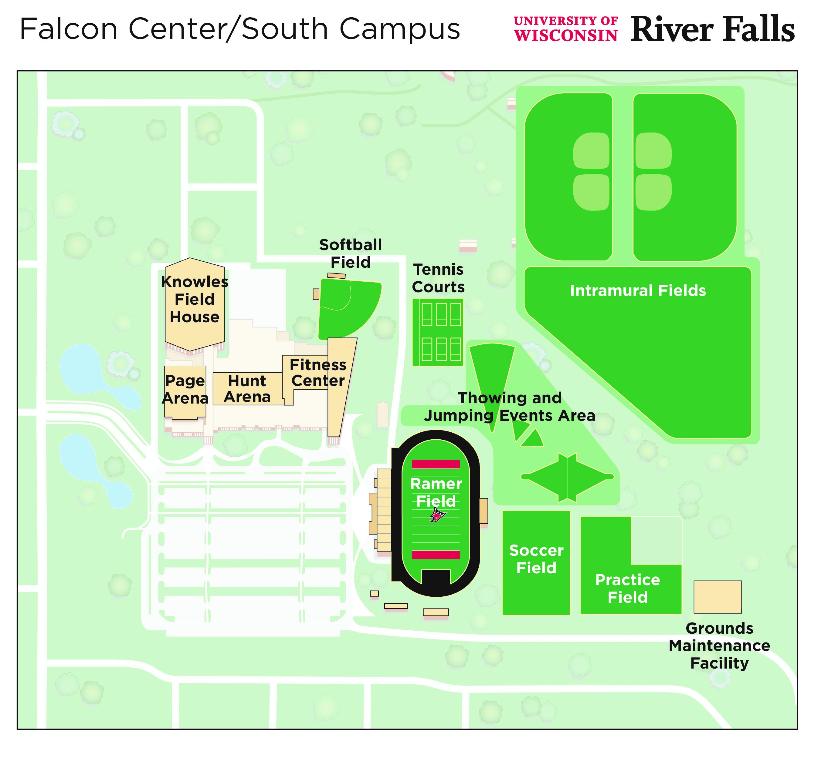 Falcon Center Aerial Drawing