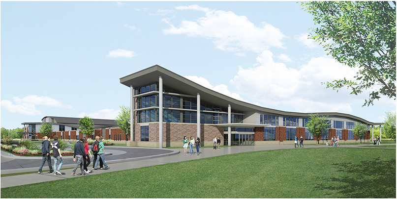 Falcon Center Rendering of exterior