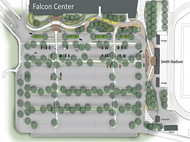 Falcon Center Parking