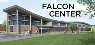 Click to learn more about construction progress on the Falcon Center