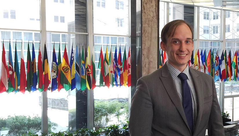 UWRF history alum Alex Nelson on-the-job at the US State Department