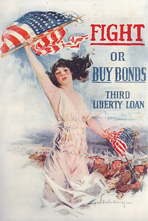 World War I poster - Fight or buy bonds